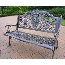 best choice products cozumel antique copper cast aluminum bench