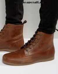 s lace up boots canada shoes boots trainers asos lace up boot in leather