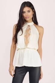 keyhole blouse ivory blouse keyhole blouse lace trim blouse ivory top tobi