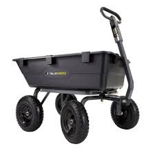 Cart by Gorilla Carts 1 200 Lb Heavy Duty Poly Dump Cart Gor6ps The