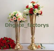 flower stand hot style wedding pillar flower stand silver metal vase
