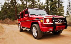 mercedes benz jeep red 2012 mercedes benz g550 first test truck trend