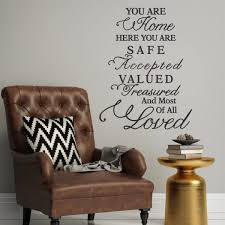 you are home here you are safe wall decal a great impression