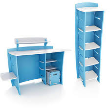 no tools assembly desk buy no tools assembly desk and bookcase set blue and white in