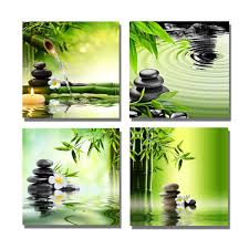 Home Decor Canvas Art The Decor Shop Canvas Prints Stones Candle And Bamboo On Water