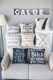 english alphabet linen pillow fashion office sofa cushions pillow