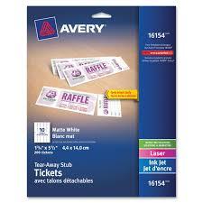Avery Invitation Cards Printable Tickets With Tear Away Stubs Walmart Com