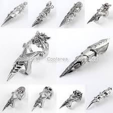 gothic finger rings images Gothic punk mens double ring spike full finger scroll knuckle jpg