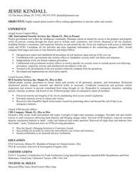 Security Officer Resume Template Government Job Resumes Example Image Simple Resume Examples For