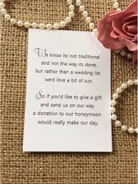 wedding donation registry 25 50 wedding gift money poem small cards asking for money