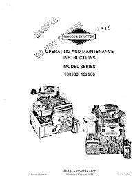 briggs u0026 stratton automobile parts 130900 user guide