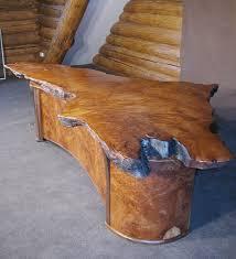 2 Person Desks by Handmade Live Edge 2 Person Redwood Burl Executive Desk By Shinn