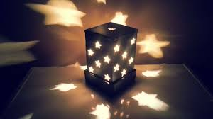 candle light decoration at home how to make a starry cardboard lampshade diy home tutorial