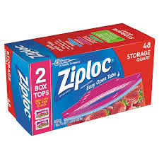ziploc storage bags quart 48 count prime pantry