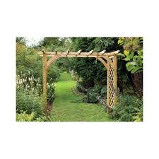 Homebase Garden Furniture Large Ultima Pergola Arch Forest Garden Upartlhd