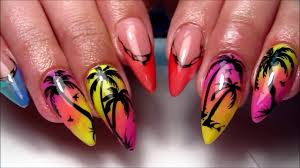 total best this summer gel polish nail art for short nails youtube