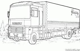 coloring page renault magnum