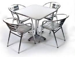 Steel Or Aluminum Patio Furniture Stainless Steel Patio Chairs Foter