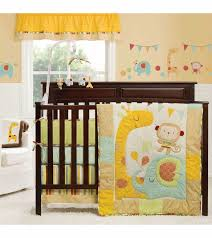 Crib Bedding Jungle Graco Jungle Friends 4 Crib Bedding Set By Kidsline