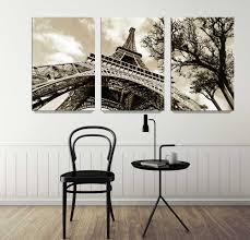 3 in 1 famous architecture eiffel tower home decor wall art giclee