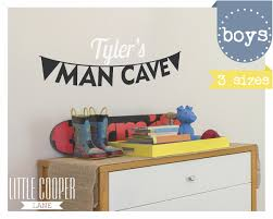 man cave bunting vinyl wall decal sticker personalized custom man cave bunting vinyl wall decal sticker personalized custom name decal small medium large for baby nursery or kids room id 1382