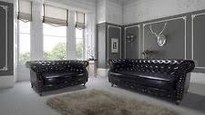 black chesterfield sofas ebay