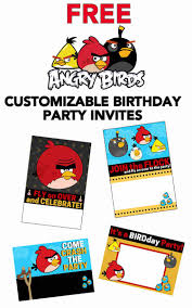 free angry birds invitations download customize