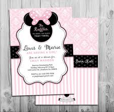 minnie mouse baby shower invitations minnie mouse baby shower invitation printable invite pink
