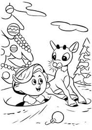 rudolph red nosed reindeer coloring picture coloring