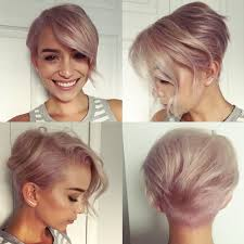 rose gold lilac pearl pixie cut metallic haircolor sarah louwho