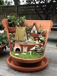 broken pot fairy garden tutorial with video fairy gardens and