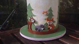 woodland animal baby shower cake youtube