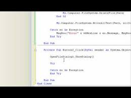 membuat file xml dengan vb6 visual basic 2008 listview export and import items part 2 youtube