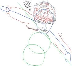 how to draw jack frost from rise of the guardians in easy step by