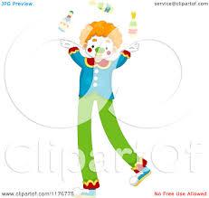 stilts clown of a juggling circus clown on stilts royalty free vector