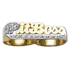 two finger name ring two finger ring three finger nameplate ring personalized rings