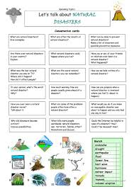 14 free esl earthquake worksheets