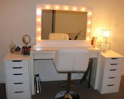 Mesmerizing Lighting Settings Furniture Astonishing Makeup Vanity With Drawers To Brings