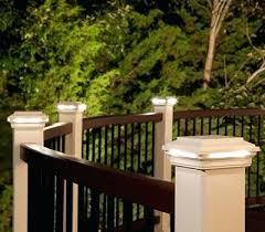 solar powered deck post lights lights solar powered deck lights led fence post lights extra large