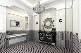 adding contemporary touch with black and white bathroom design