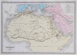 Ancient Map Of Africa by Map Of Ancient Africa 1867