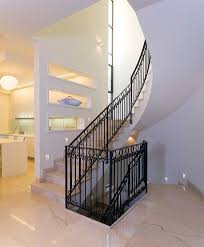 Staircase Wall Design by Stair Wall Staircase Farmhouse With V Groove Walls Nickel Pendant