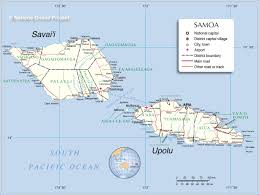 samoa in world map administrative map of samoa nations project