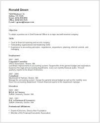 cfo resume example free templates collection warrant officer