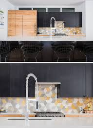 9 inspirational kitchens with geometric tiles yellow grey and