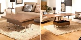 Desk Converts To Bed Furniture Best Transforming Space Saving Coffee Table Converts To