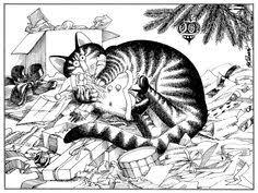 kliban cat card by hflyers via flickr kliban cats