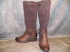 womens ugg leona boots ugg australia wedge knee high boots for ebay