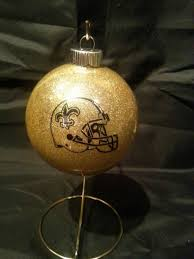 new orleans saints ornaments handmade glittered glass