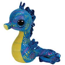 ty beanie boos neptune seahorse glitter eyes regular size